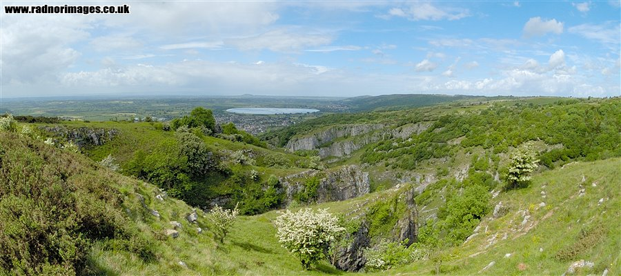 Cheddar Gorge and the reservoir