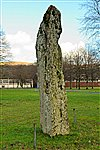 Standing stone at Cwrt y Gollen